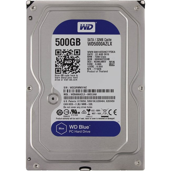 DISCO DURO INTERNO 500 GB